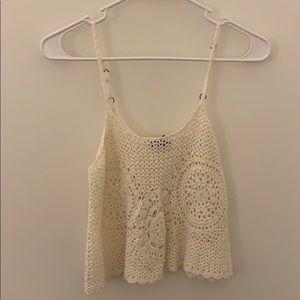 Forever 21 Crochet Crop Tank